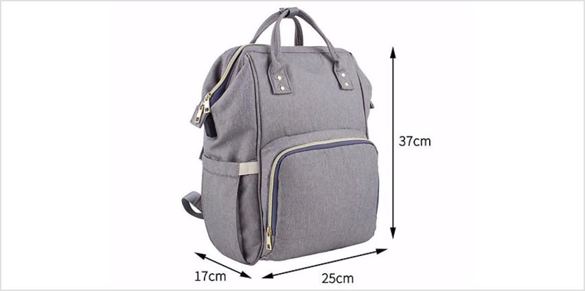 Large Multi-functional USB Baby Changing Backpack - 7 Colours from GoGroopie