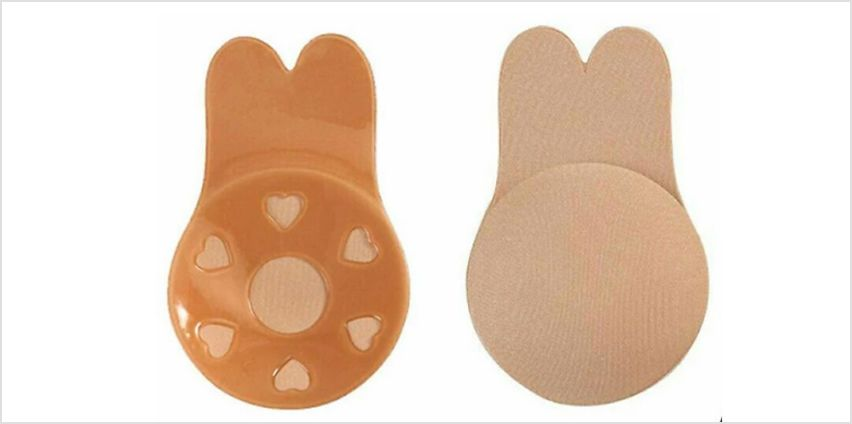 1 or 2 Breast Lifting Invisibras - 2 Colours & 3 Sizes from GoGroopie