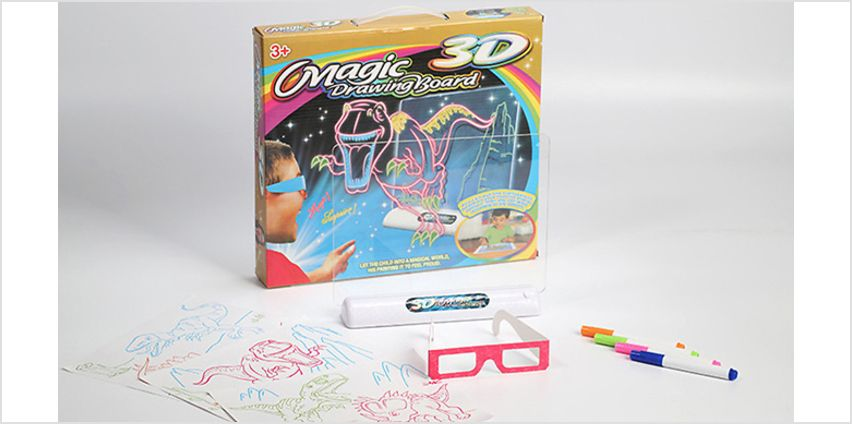 3D Dinosaur Magic Drawing Board from GoGroopie