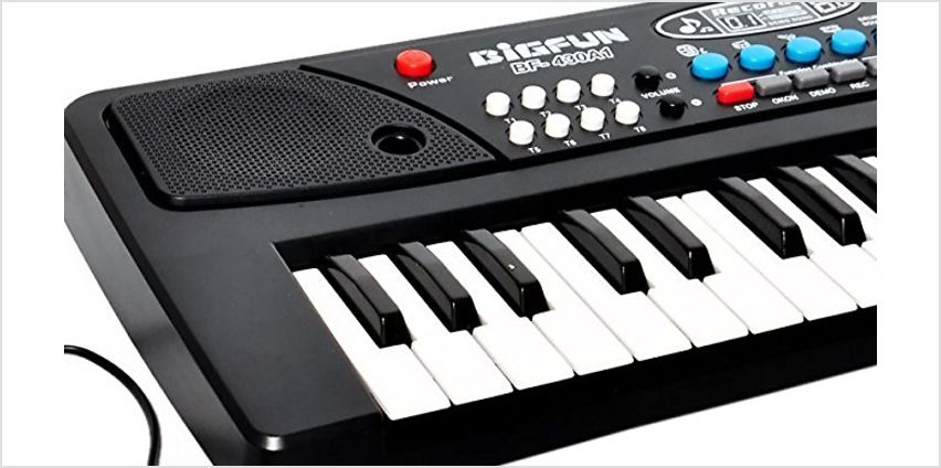 3-in-1 Recording Starter Piano with Mic and 32-Key Keyboard from GoGroopie