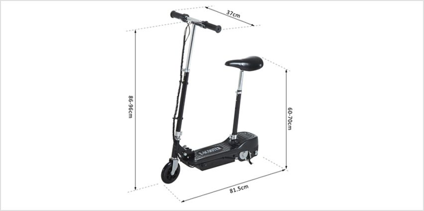 120W Electric Foldable Scooter with Twist Grip Accelerator - 4 Colours from GoGroopie