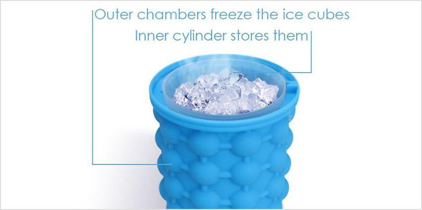EasySqueezy 2-in-1 Ice Maker & Bottle Cooler from GoGroopie