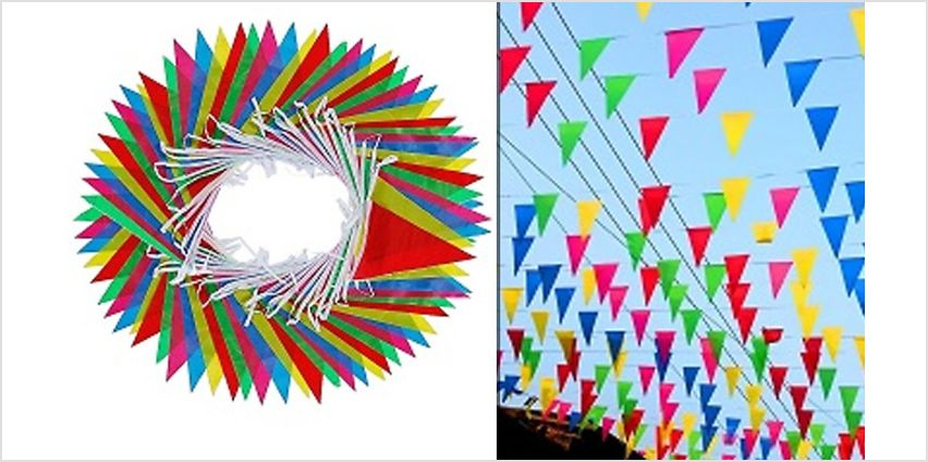 164 Feet of Multicoloured Bunting Banners - 1 or 2 from GoGroopie