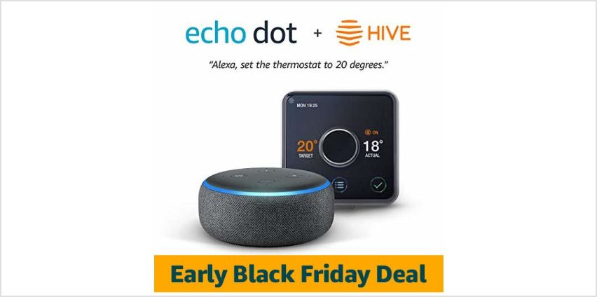 Up to 40% off Hive with Echo dot for £9.99 from Amazon