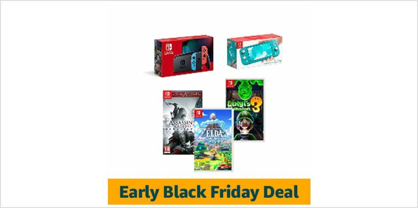 Save On Nintendo Switch Consoles + Games from Amazon