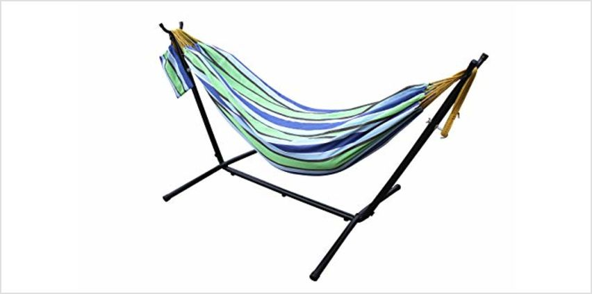 Save On Pure Cotton Hammocks with Stand, Available in 4 Colours from Amazon