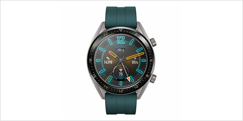 """HUAWEI Watch GT Active - GPS Smartwatch with 1.39"""" AMOLED Touchscreen, 2-Week Battery Life, 24/7 Continuous Heart Rate Tracking, Multiple Outdoor and Indoor Activities, 5ATM Waterproof, Dark Green from Amazon"""
