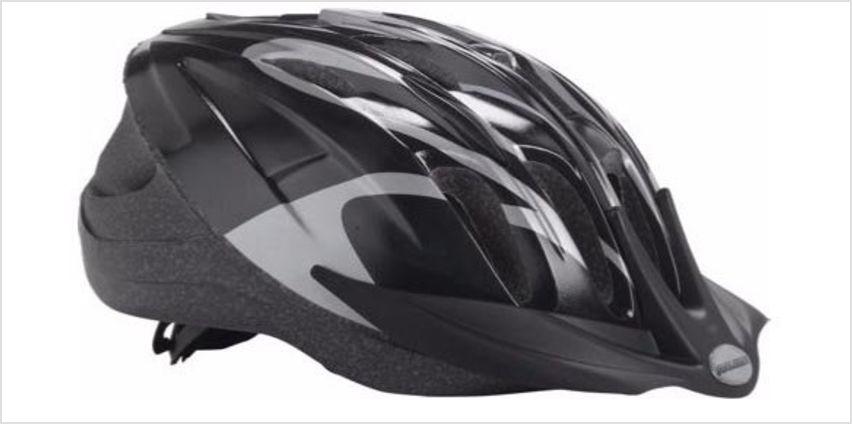 Raleigh Unisex's Infusion Cycle Helmet, Black/Silver, 58-62 cm from Amazon