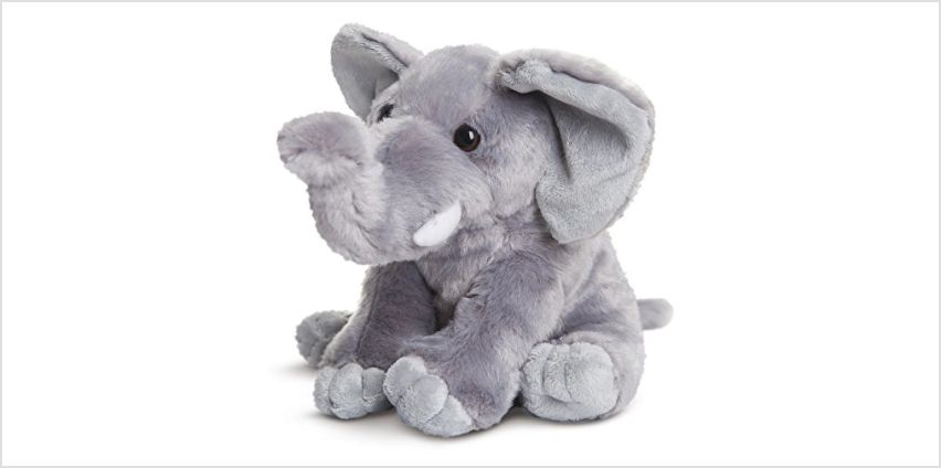 AURORA 19266 Destination Nation, Soft Toy, Cuddly Elephant for Adults and Children, 10Inch, Grey, White from Amazon