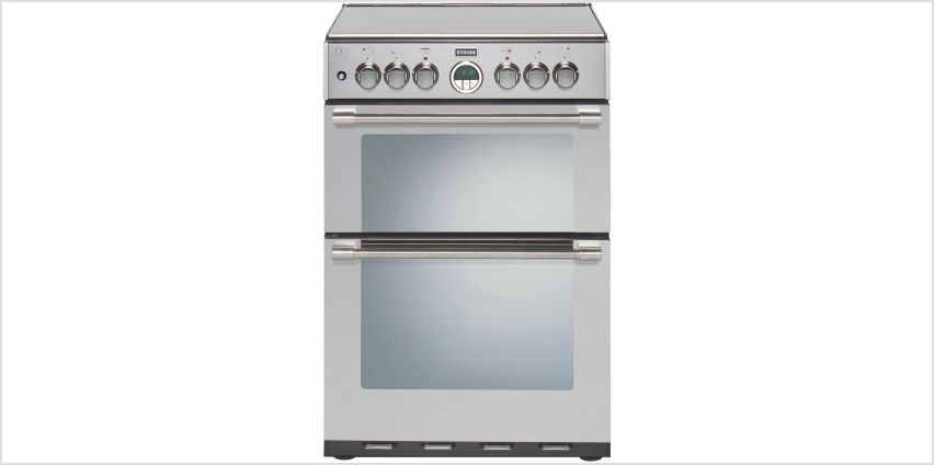 Stoves Sterling 600 60cm Double Dual Fuel Cooker - S/ Steel from Argos