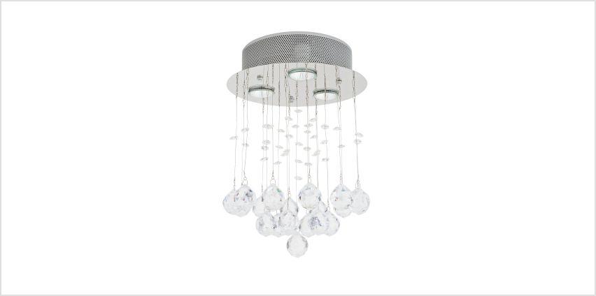 Argos Home Sophia LED Beaded Ceiling Light - Chrome from Argos