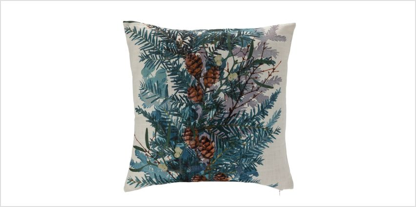 Argos Home Winter's Cabin Foliage Cushion from Argos
