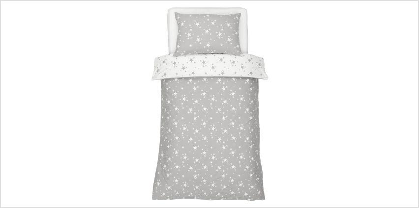Argos Home Brushed Cotton Star Bedding Set from Argos