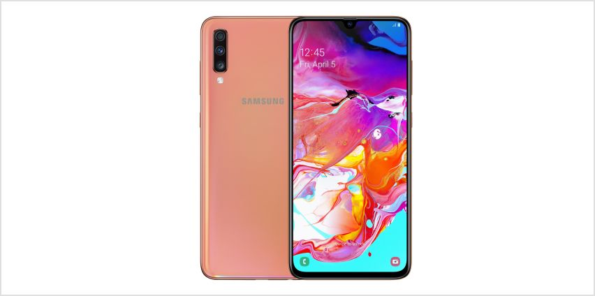 SIM Free Samsung A70 128GB Mobile Phone - Coral from Argos