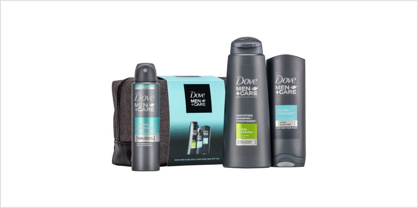 Dove Men and Care Daily wash Bag Gift Set from Argos
