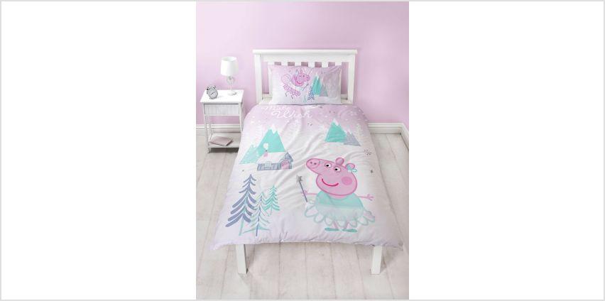 Peppa Pig Sugarplum Christmas Bedding Set from Argos