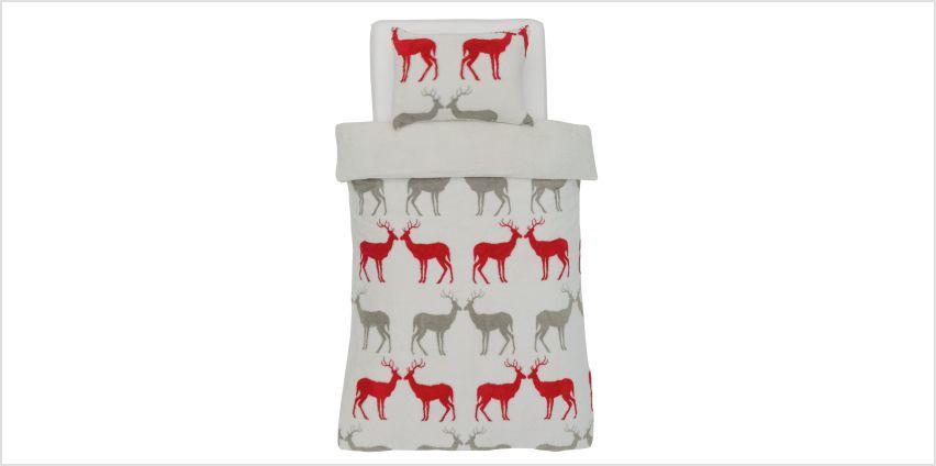 Argos Home Teddy Fleece Reindeer Bedding Set from Argos
