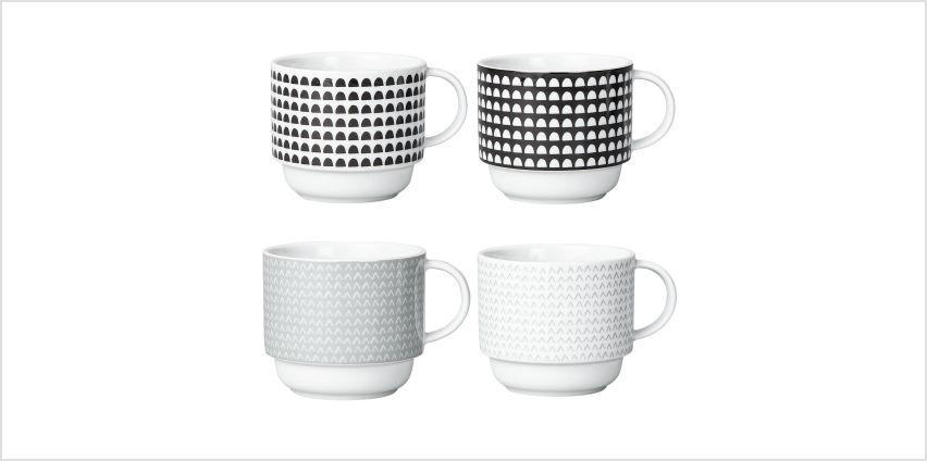 Argos Home Noir Printed Stacking Mugs from Argos