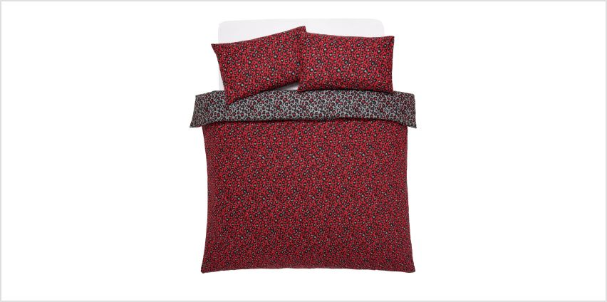 Argos Home Red Leopard Bedding Set - Double from Argos