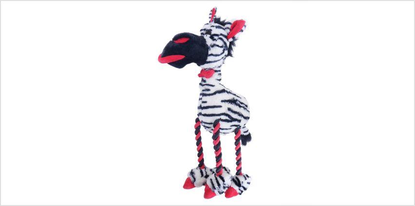 Rosewood Large Plush Zebra Dog Toy from Argos