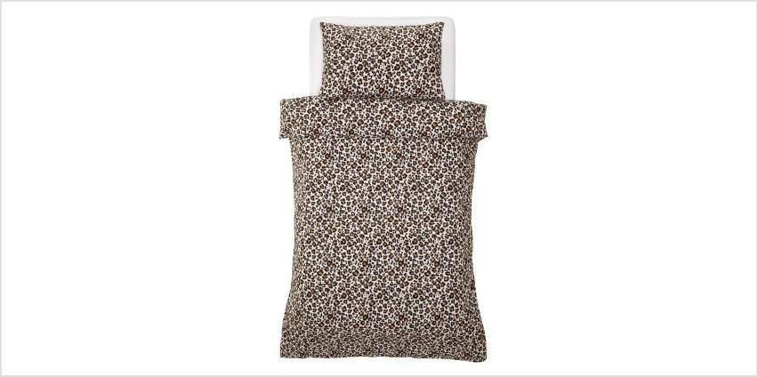 Argos Home Animal Print Bedding Set - Single from Argos