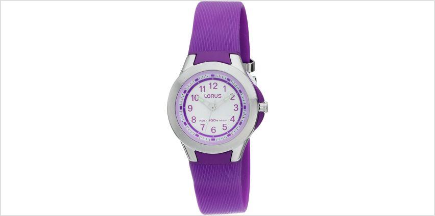 Lorus Purple Resin Strap Watch from Argos