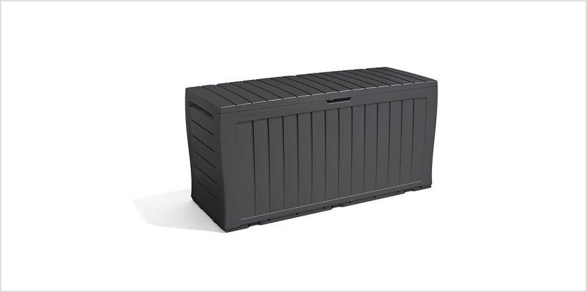 Keter Marvel+ 270L Garden Storage Box - Grey from Argos