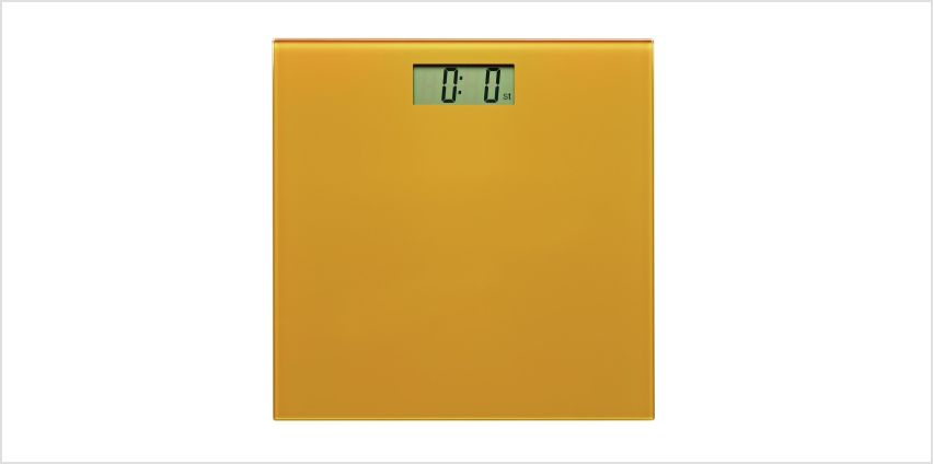 Argos Home Electronic Bathroom Scales - Mustard from Argos