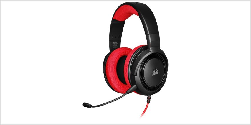 Corsair HS35 Xbox One, PS4, Switch, PC Headset - Red from Argos