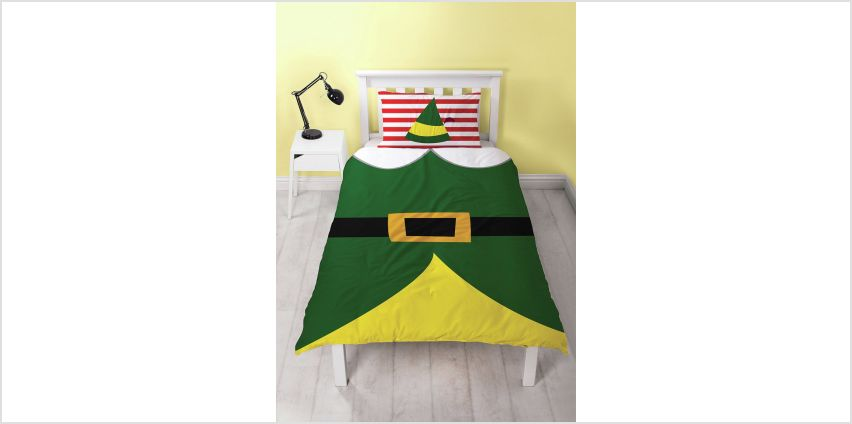 Elf Selfie Christmas Bedding Set - Single from Argos