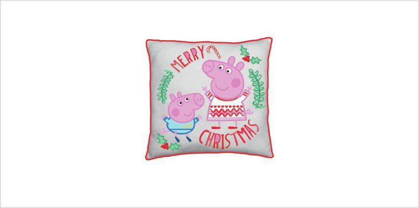 Peppa Pig How Many Sleeps Cushion from Argos