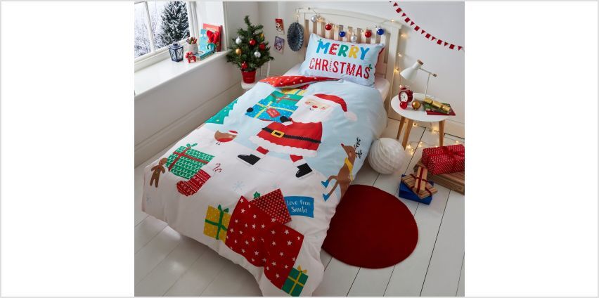 Catherine Lansfield Love From Santa Bedding Set from Argos