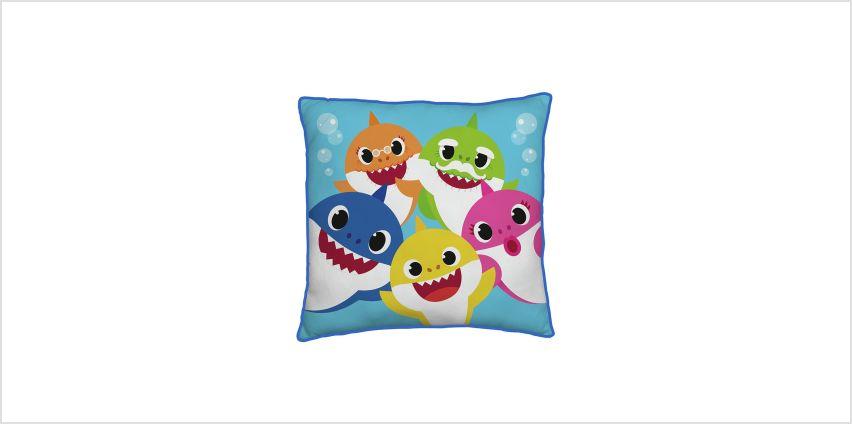 Baby Shark Family Square Cushion from Argos
