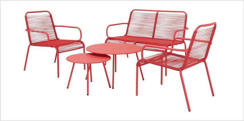 Argos Home Ipanema 4 Seater Sofa Set - Coral from Argos