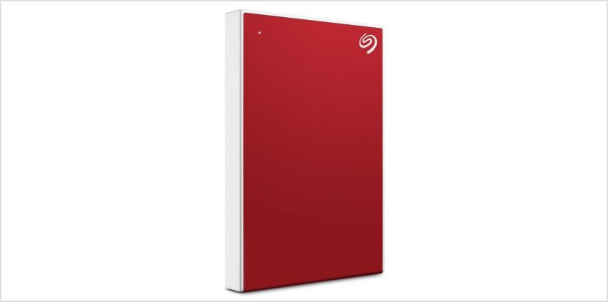 Seagate Backup Plus Portable 2TB Hard Drive - Red from Argos