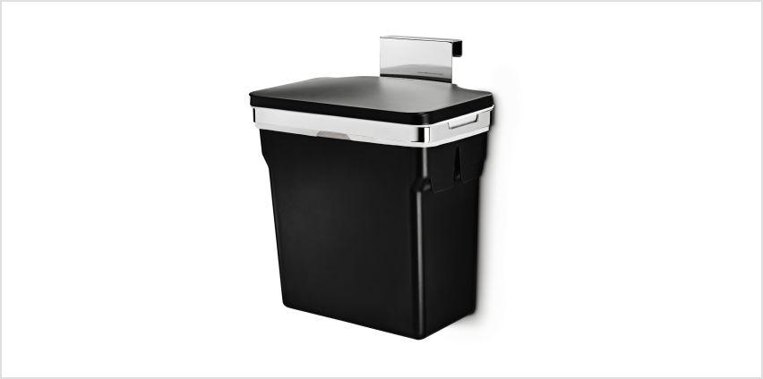 simplehuman 10L In-Cabinet Cupboard Bin - Black from Argos