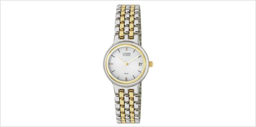 Citizen Ladies Eco-Drive Two-Tone Bracelet Watch from Argos