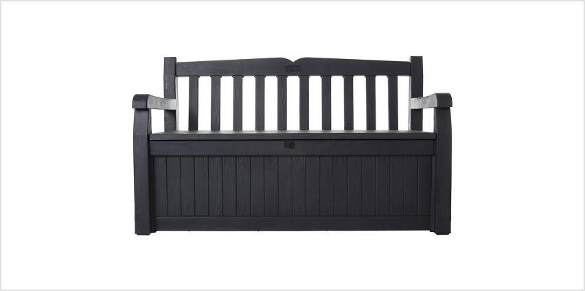 Keter Eden Bench 265L Garden Storage Box – Grey from Argos