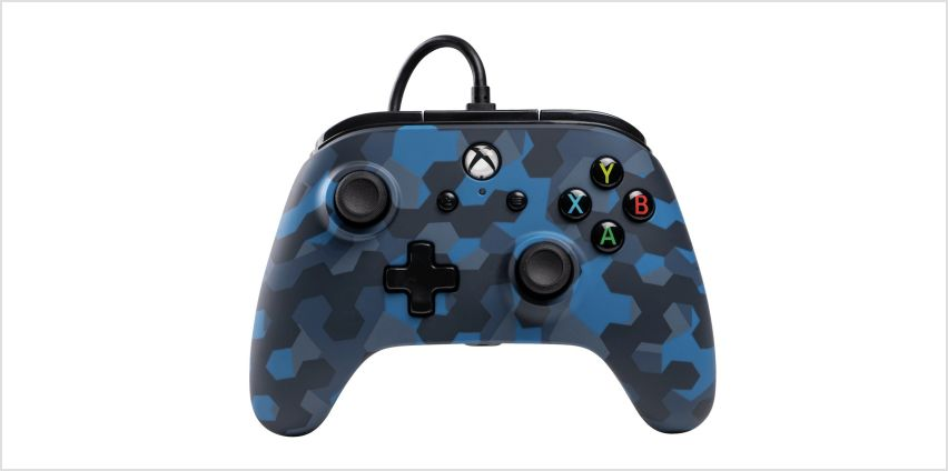 PowerA Wired Xbox One Controller  - Stealth Blue Camo from Argos