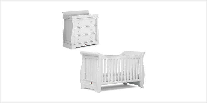 Boori Sleigh 2 Piece Room Set - White from Argos