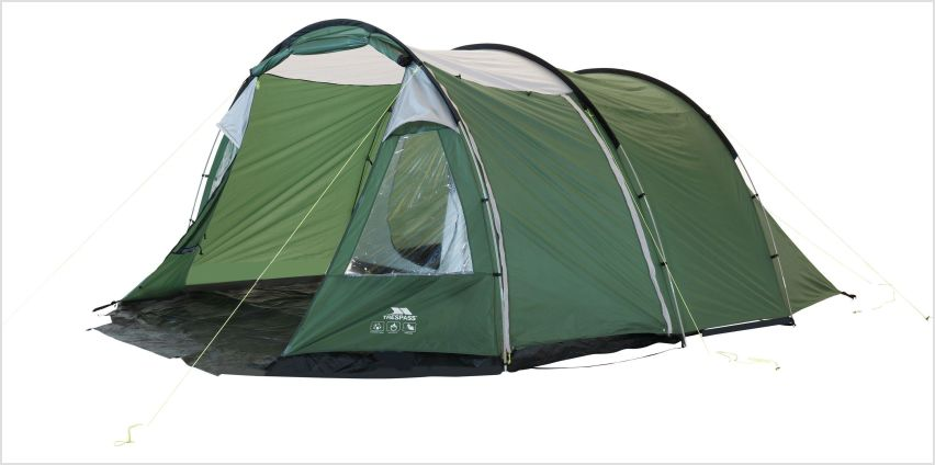 Trespass 6 Man 2 Room Tunnel Camping Tent from Argos