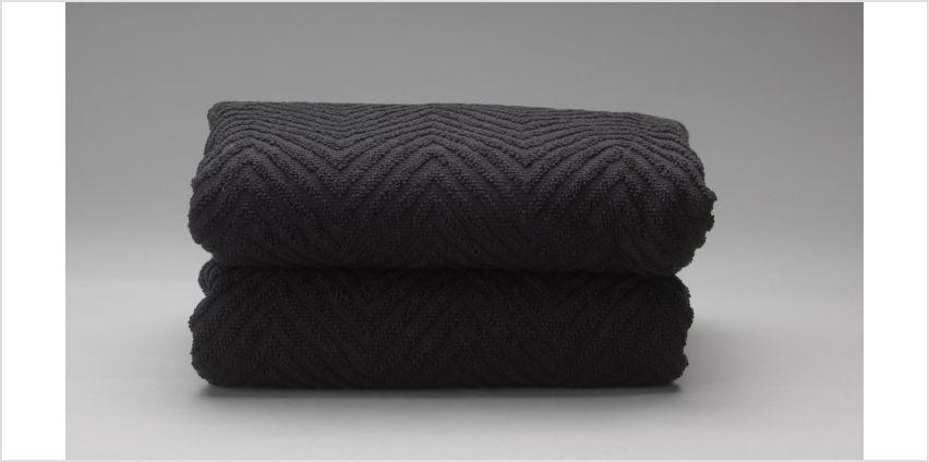 Argos Home Pair of Lurex Hand Towels from Argos