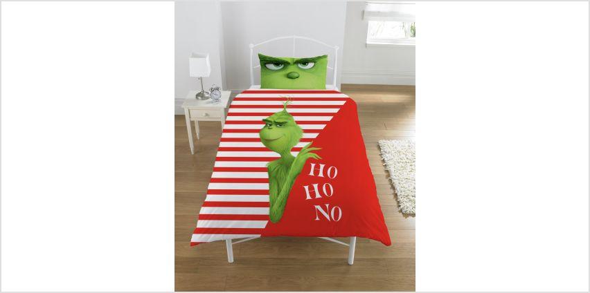 The Grinch Movie Ho Ho No Bedding Set - Single from Argos