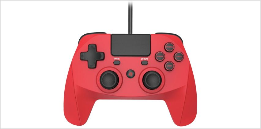 Snakebyte Game:Pad 4S PS4 Wired Controller - Red from Argos