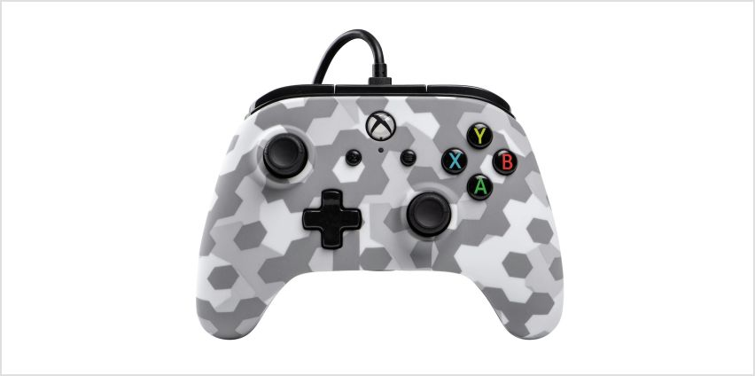 PowerA Wired Xbox One Controller  - Arctic Frost Camo from Argos