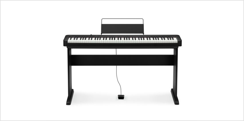 Casio CDP-S100BKC5ST Digital Piano with Stand - Black from Argos