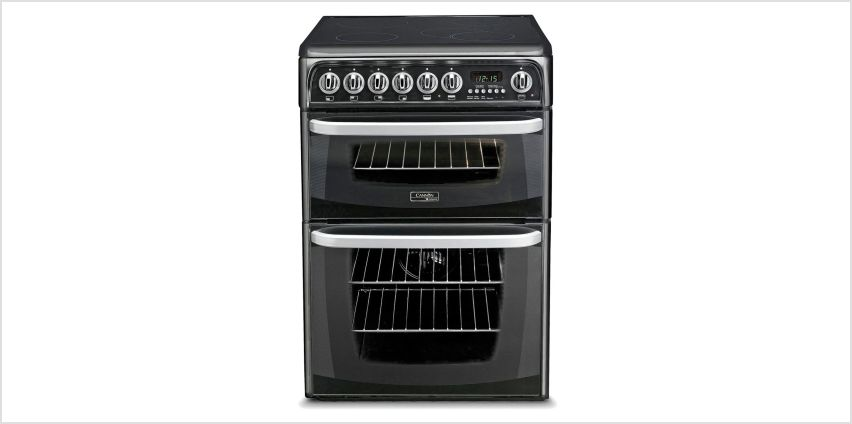 Hotpoint CH60EKKS 60cm Double Oven Electric Cooker - Black from Argos