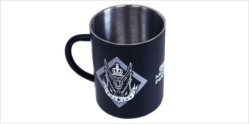 Official COD Modern Warfare Steel Mug from Argos