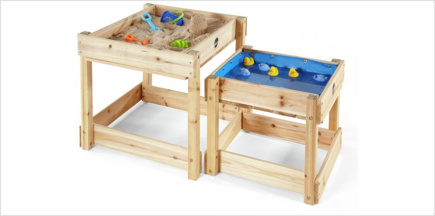 Plum Sandy Bay Wooden Sand Pit and Water Table. from Argos