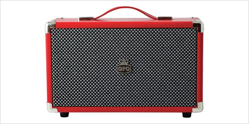 GPO Westwood Retro Bluetooth Amp Speaker - Red from Argos